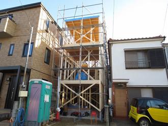 平間の住宅、上棟の様子4