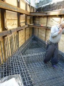 田園調布の超狭小住宅が、地下工事よりスタート