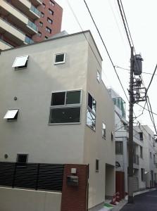 外神田の狭小住宅外観