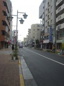 お店の前の通り