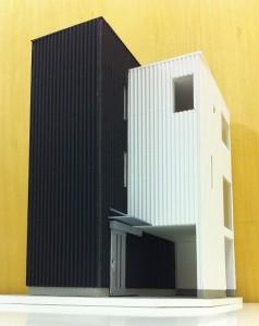 成田東の住宅 模型