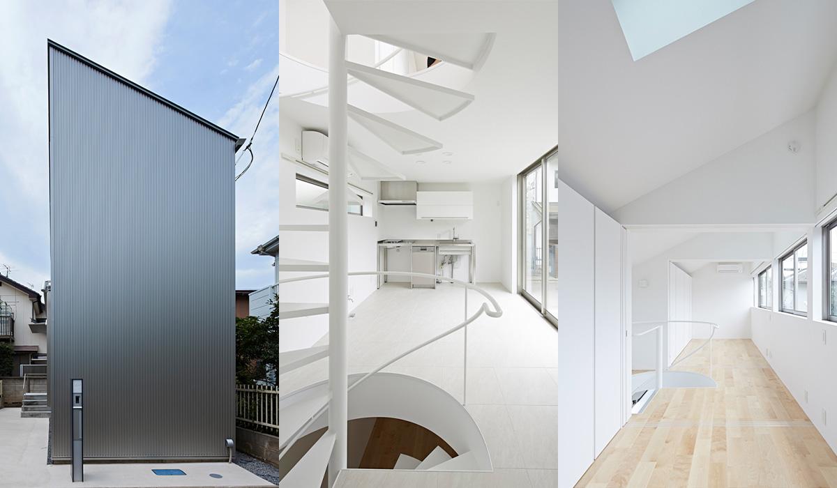 狭小住宅の外観