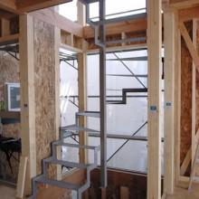 内装工事02 らせん階段